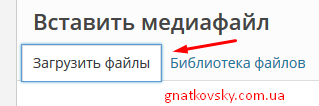 Загрузить файлы WordPress