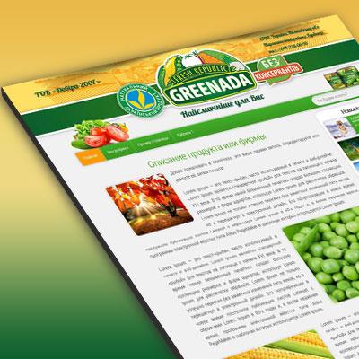 Тема для сайту консервованих продуктів