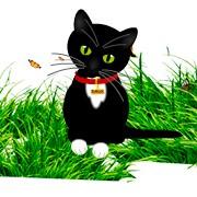 Анимированный Flash кот на сайт